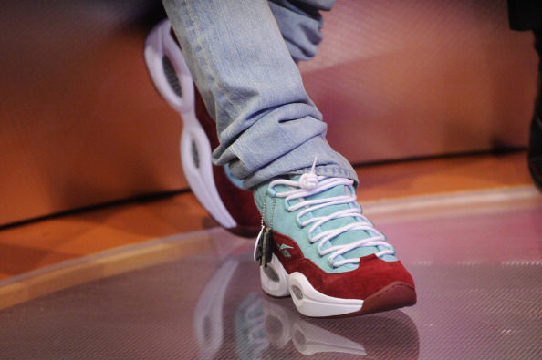 Bow Wow wearing Sneakersnstuff x Reebok Question Green Red (1)