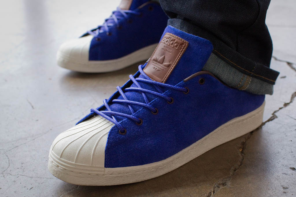 adidas superstar 80s blue suede