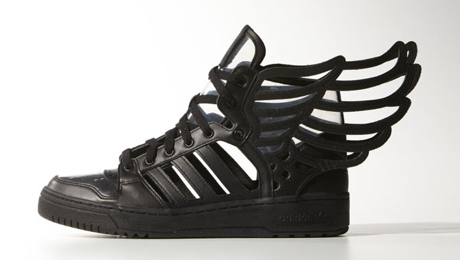 435a5f6e5dab Jeremy Scott s Latest Wings Have a Few Holes. The Wings 2.0 Cutout is back  in black.