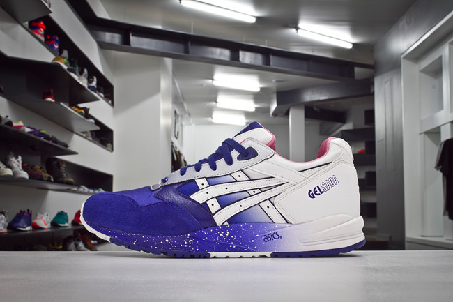 Extra Butter NY x ASICS Gel Saga Cottonmouth in purple and white