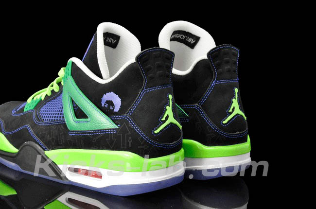 Air Jordan 4 IV Doernbecher Superman Black Old Royal Electric Green White 308497-015 I