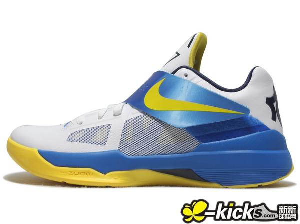 new style a149a 86d42 Nike Zoom KD IV White Tour Yellow Photo Blue Midnight Navy 473679-102 (3
