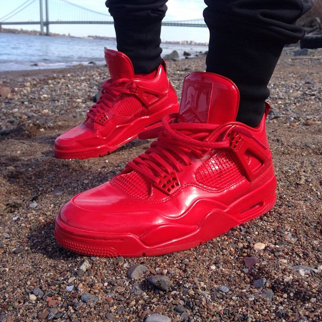 Air Jordan 11Lab4 Red On-Foot 719864-600 (1)