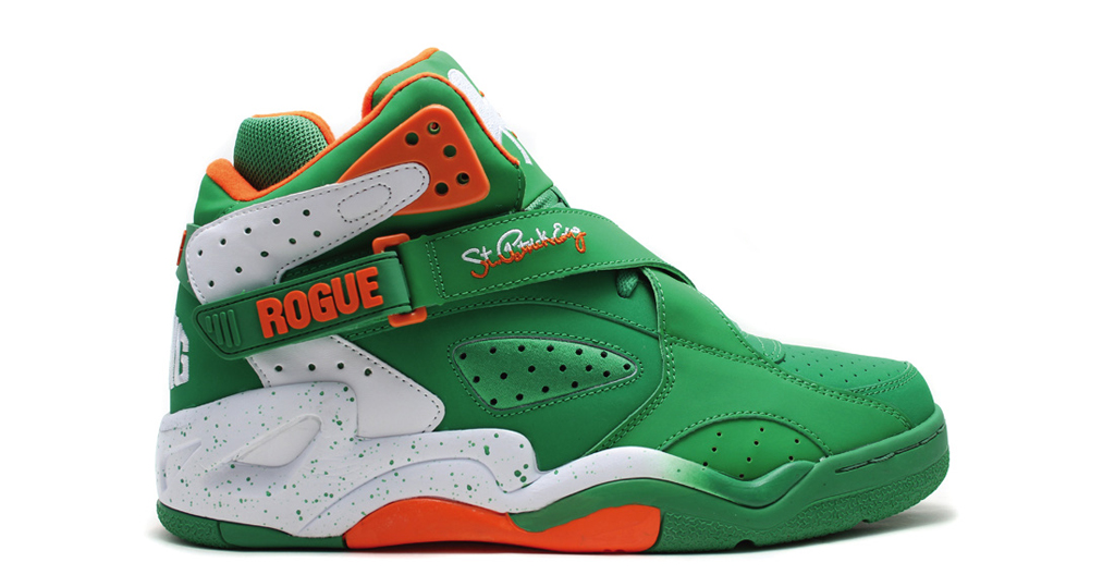 The 'St. Patrick's Day' Ewing Rogue hits ewingathletics.com as well as  select Ewing Athletics retailers on Friday, March 20.