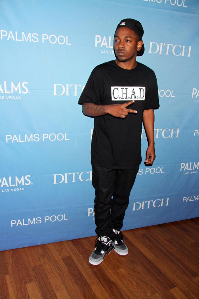 Kendrick Lamar Portant Jordans Air