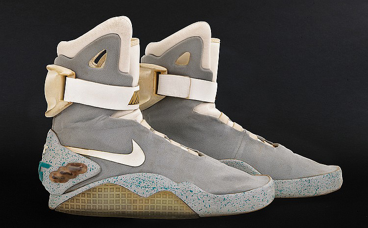 you can own the original nike mag shoes marty mcfly wore in back to the future ii sole collector. Black Bedroom Furniture Sets. Home Design Ideas