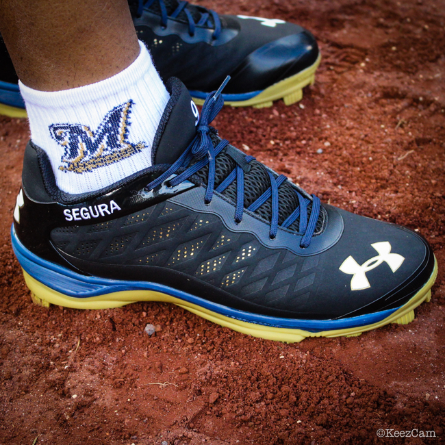 MLB Watch Jean Segura Under Armour Brewers PE