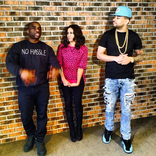 DJ Envy wearing Air Jordan 12 Gamma Blue
