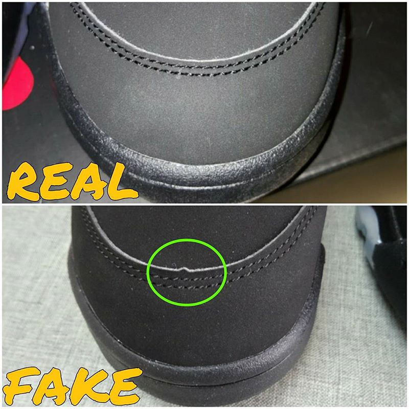 16a20fadf26 How To Tell If Your 'Black' Supreme Air Jordan 5s Are Real or Fake ...