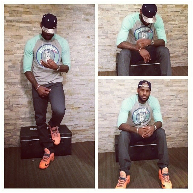 LeBron James Wears 'Atomic Orange' Nike LeBron 11