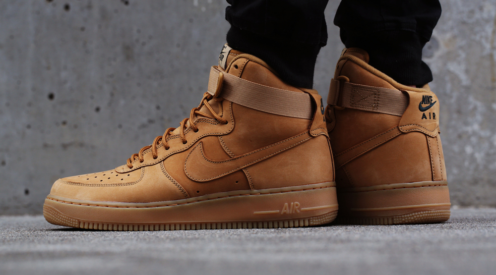 new concept e9cda ba7c4 Wheat Air Force 1s