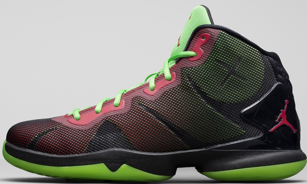 Jordan Super.Fly 4 Black/Gym Red-Green Pulse-Infrared 23