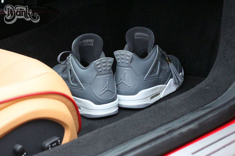 Air Jordan IV 4 Louis Vuitton Don Anthracite by Dank Customs (2)