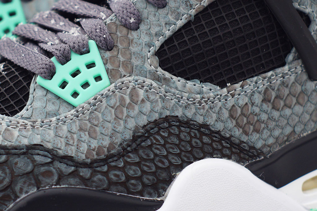 Air Jordan 4 'Python Green Glow' by JBF Customs (3)