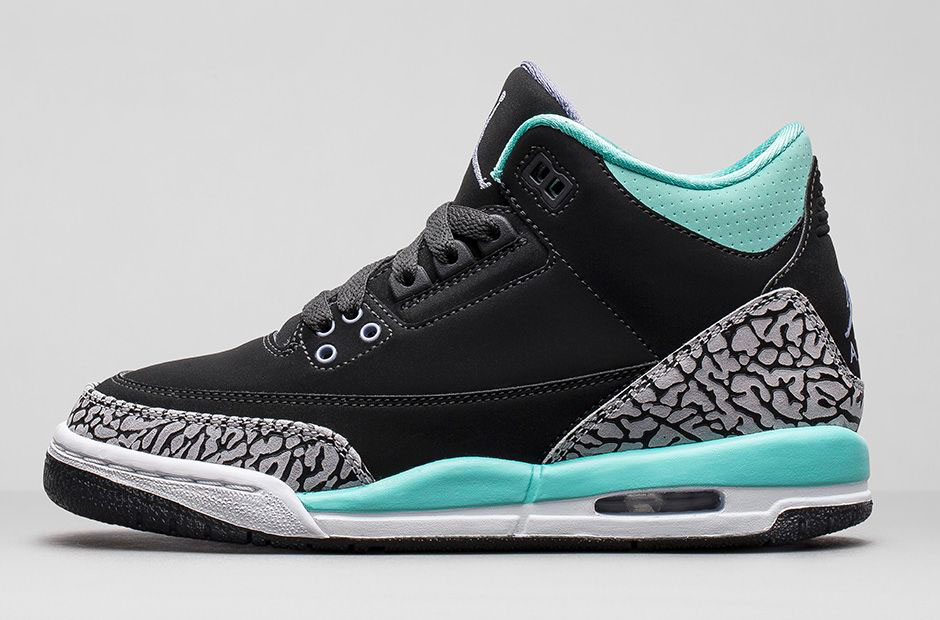 5480c70ef512 An Official Look at the  Bleached Turquoise  Air Jordan 3 Girls ...
