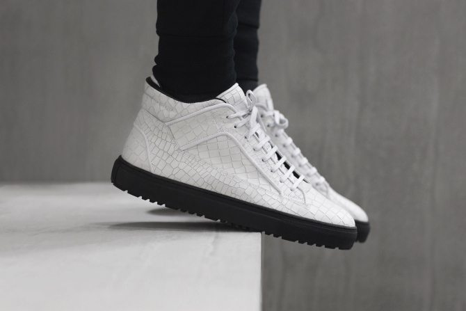 These Croc-Embossed Leather Sneakers from ETQ Amsterdam Are