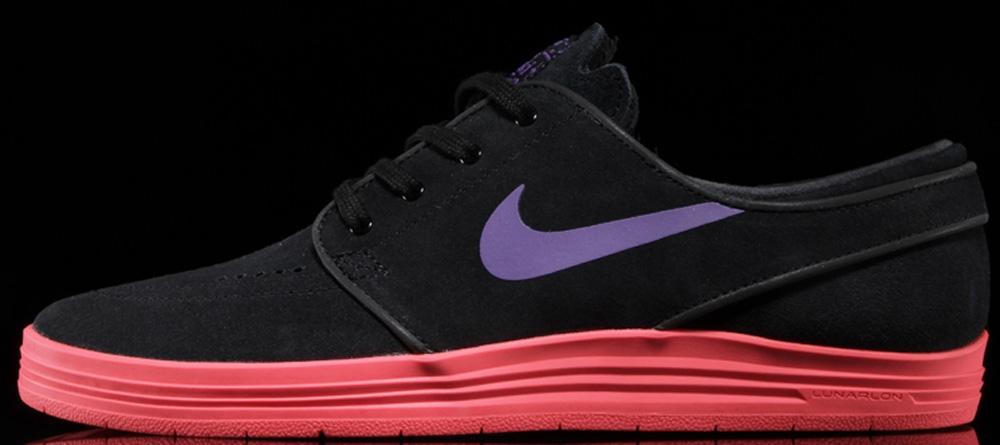 Nike Lunar Stefan Janoski SB Black/Hyper Grape-Hyper Punch