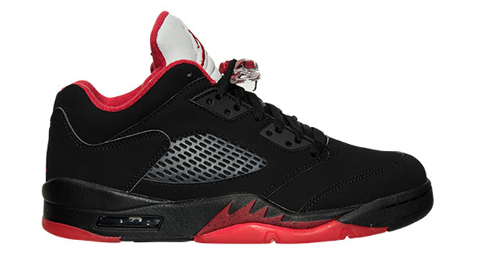 Jordan 5 Low Black Red