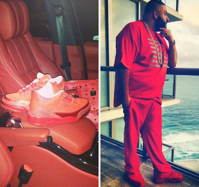 DJ Khaled wearing Air Jordan III 3 Legends of the Summer f9db89449e3e