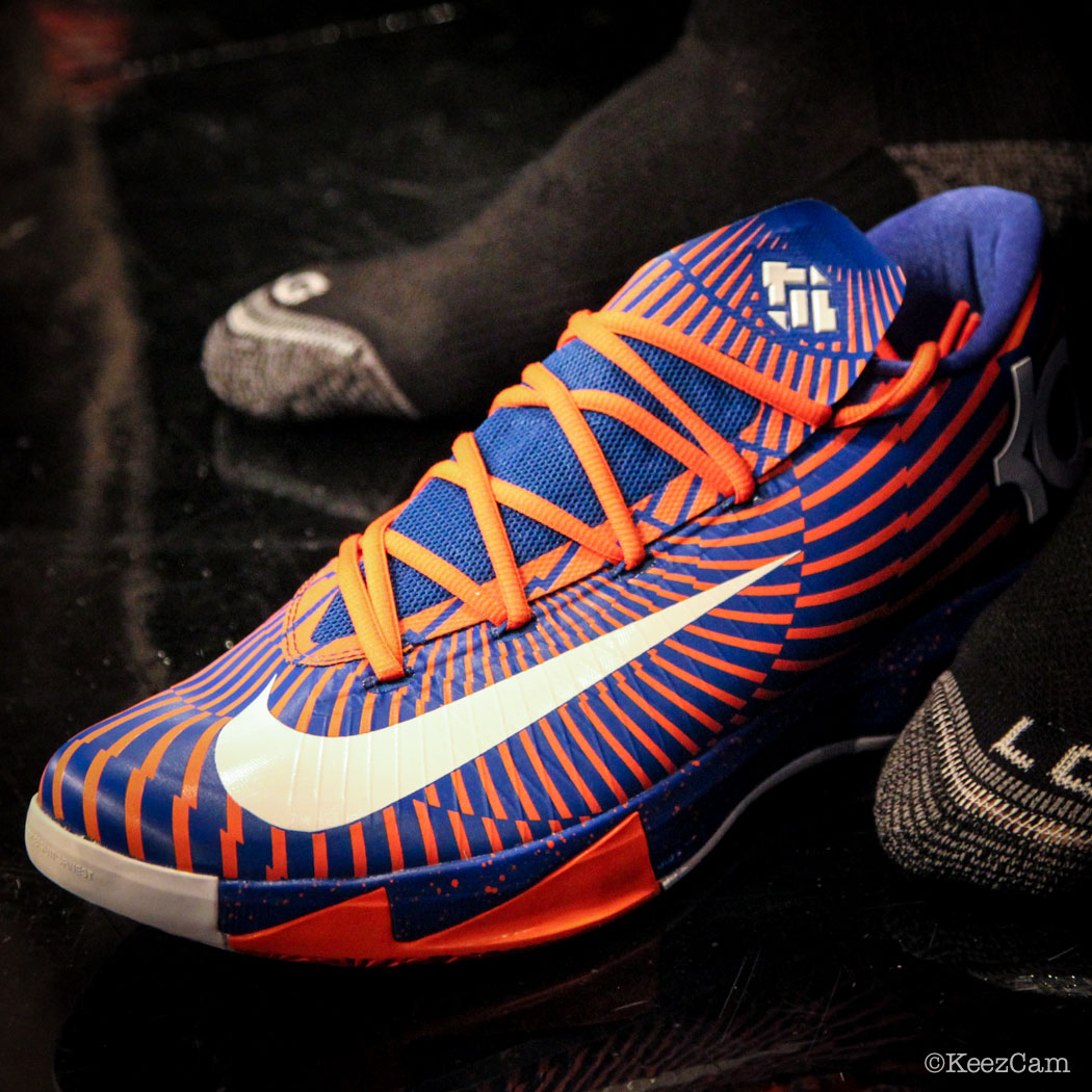 SoleWatch // Up Close At Barclays for Nets vs Knicks - JR Smith wearing Nike KD 6 iD Precision