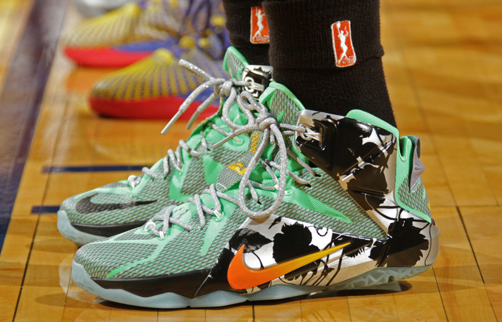 0d6155517bf6 SoleWatch  Swin Cash Is Wearing Crazy LeBron 12s In New York