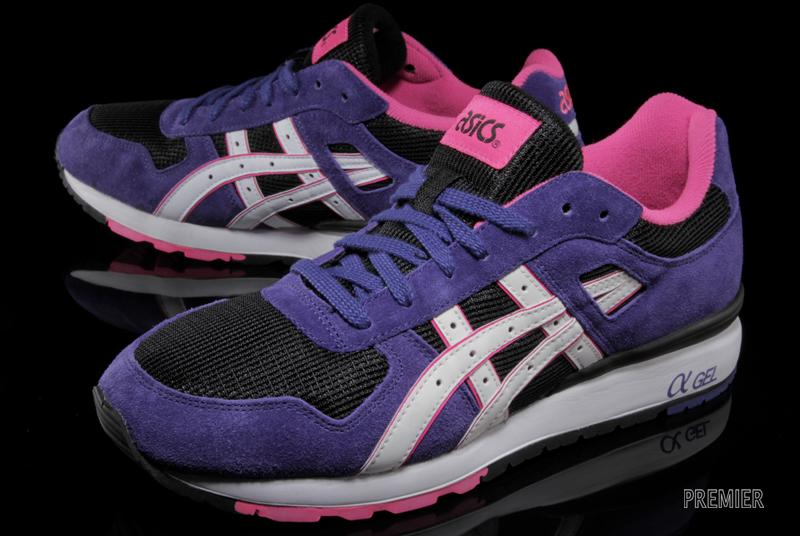 ASICS GT II black purple suede and mesh
