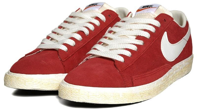 newest 0e2d4 54d17 The Varsity Red Nike Blazer Low PRM VNTG is available now at End Clothing.
