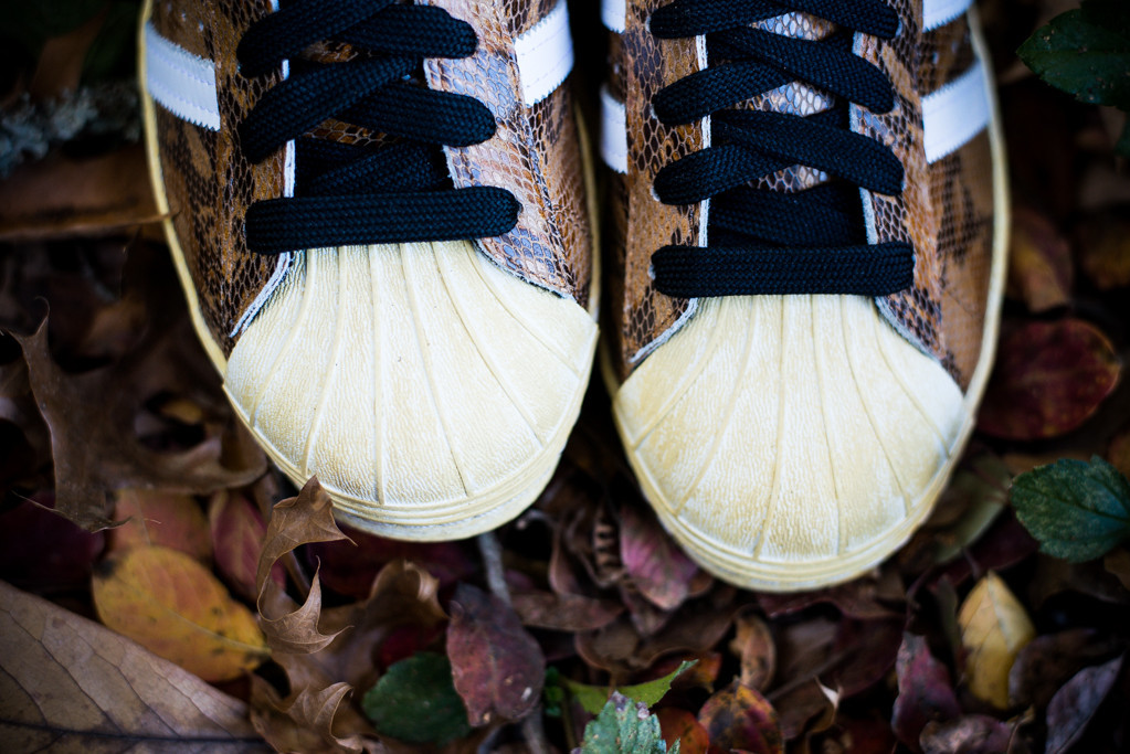 adidas Originals Superstar 80s Brown Snakeskin sheeltoe