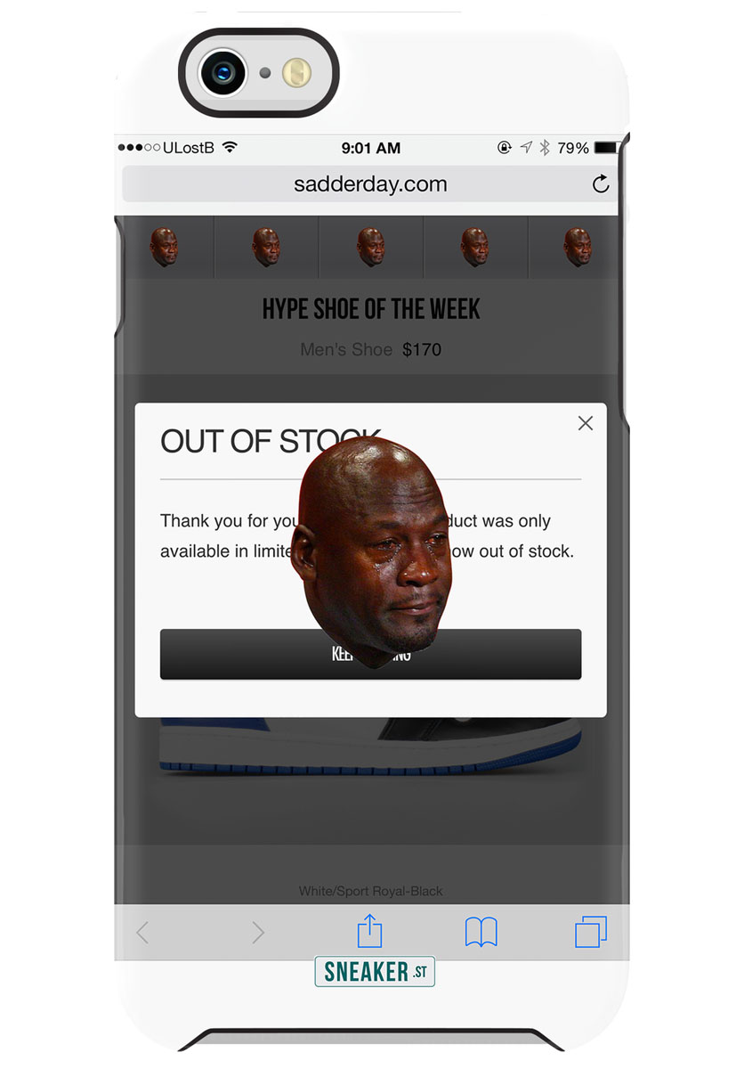 Best Michael Jordan Crying Sneaker Memes: Phone Case