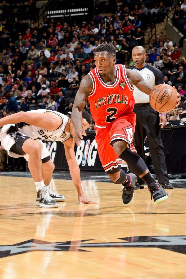 Nate Robinson wearing Nike Air Yeezy 2 Black Solar Red (2)