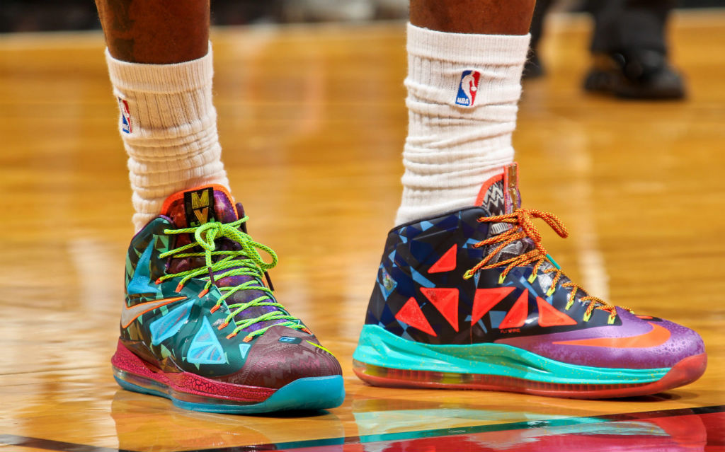 pretty nice dbf8e fe0e2 LeBron James wearing Nike LeBron X What the MVP (4)