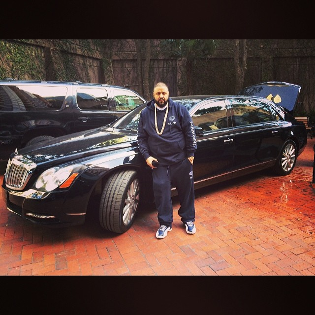 DJ Khaled wearing Air Jordan 12 Obsidian