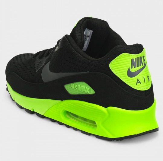 38f17502b0 Take a closer look at the Nike Air Max 90 EM in Black / Flash Lime below,  and stay tuned for further release details.