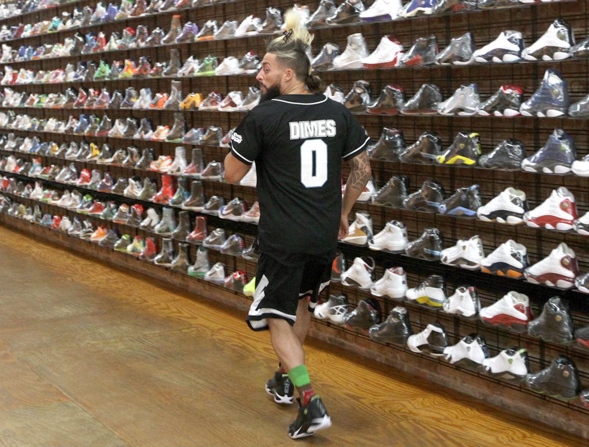 Enzo Amore Wearing the Indiglo Air Jordan 14