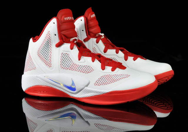 2a437a7e9223 Nike Zoom Hyperfuse 2011 White Metallic Luster Sport Red 454136-101 Profile