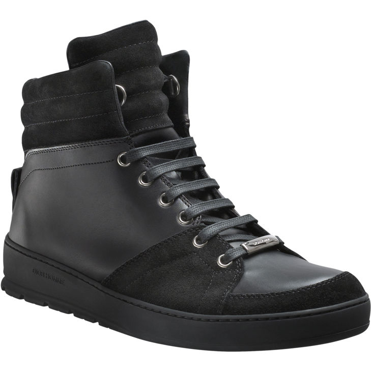 Dior Homme Black Leather and Suede High-Tops (2)