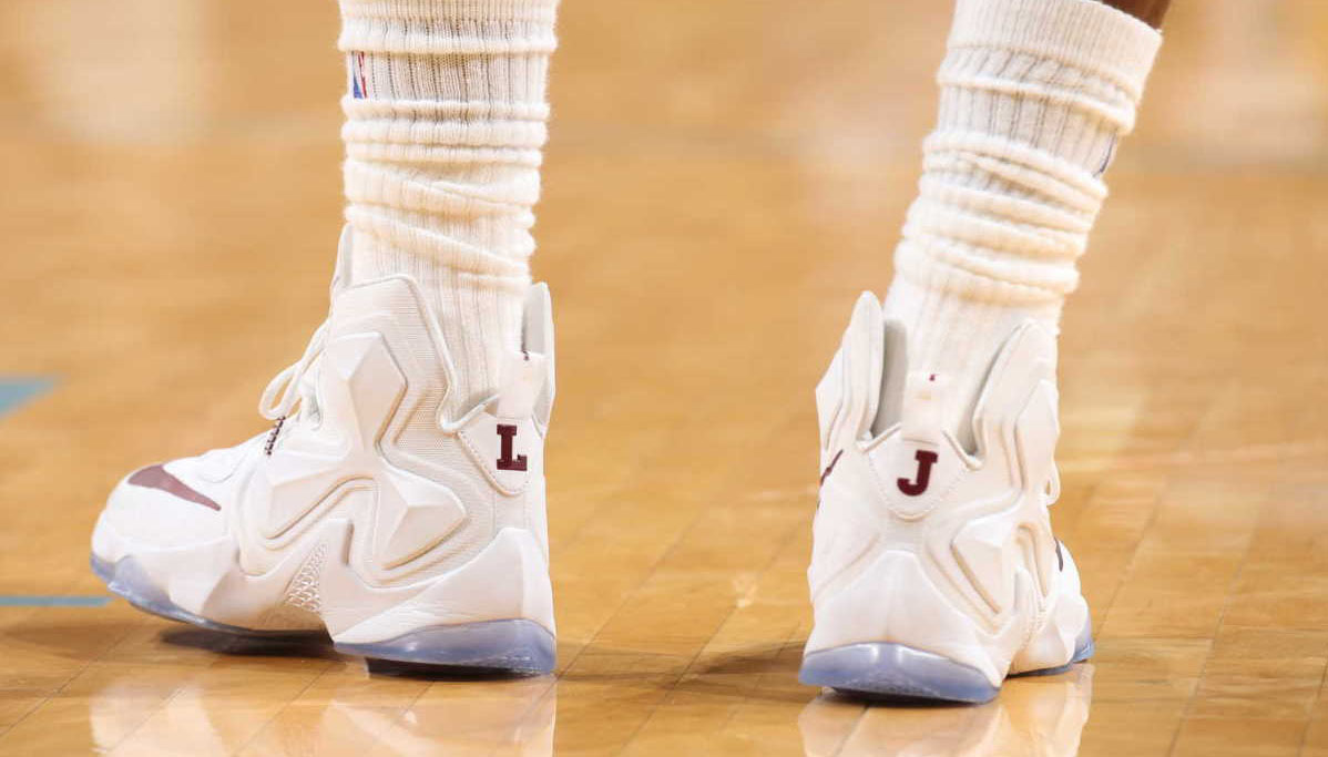 quality design 604a6 7a28c SoleWatch: The First Nike LeBron 13 PE of the Season | Sole ...