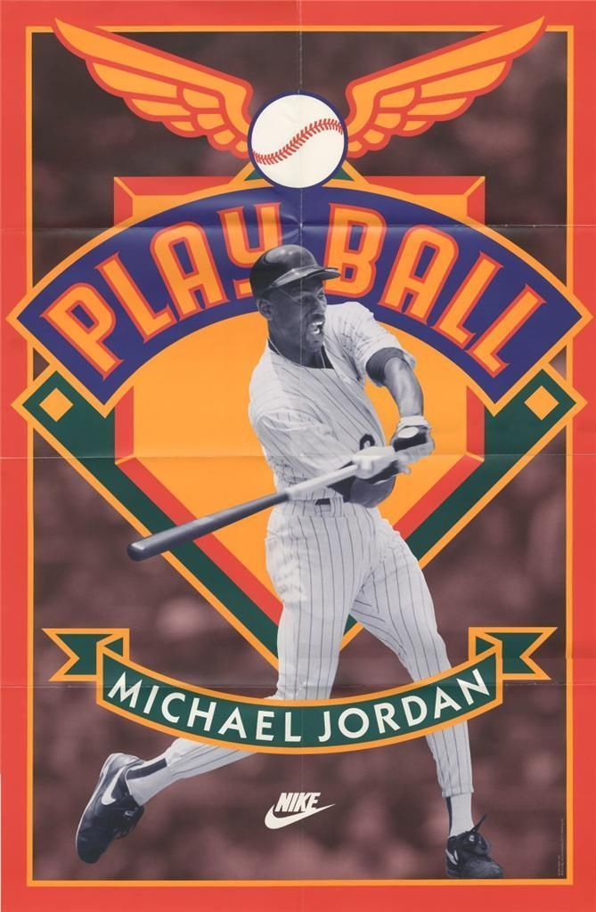 Michael Jordan 'Play Ball' Nike Air Jordan Poster (1994)