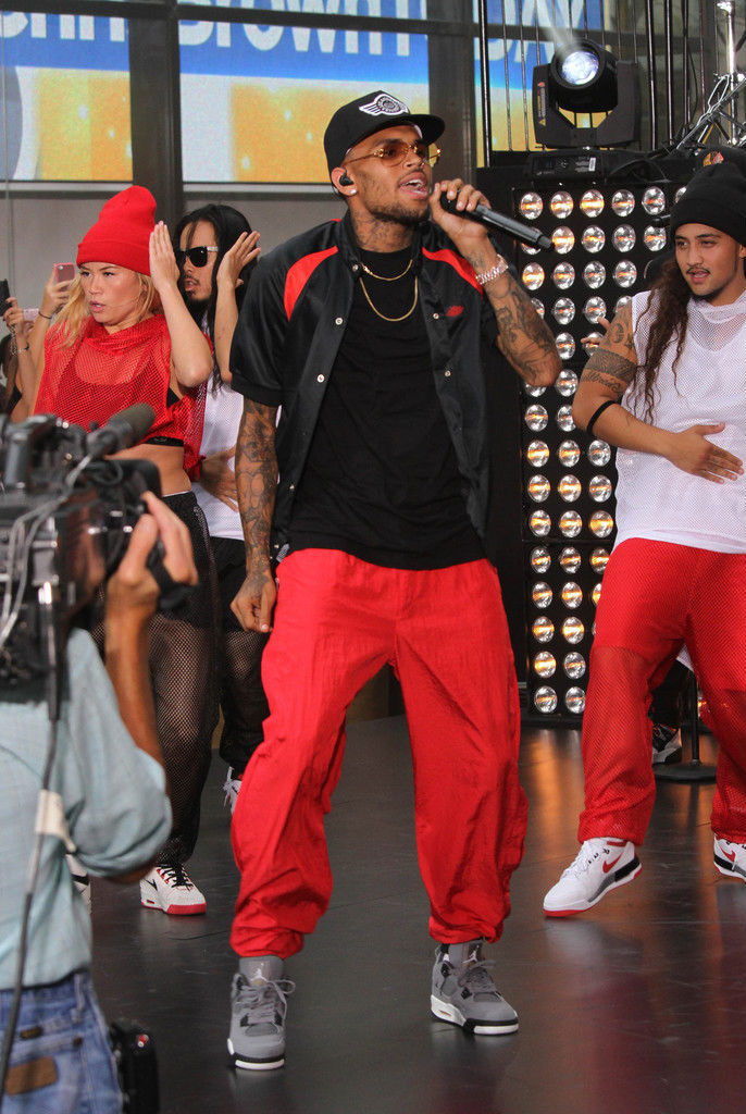 Chris Brown Wearing Cool Grey Air Jordan IV 4 Retro (4)