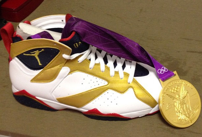 Air Jordan 7 Gold Medal Sample (2012)