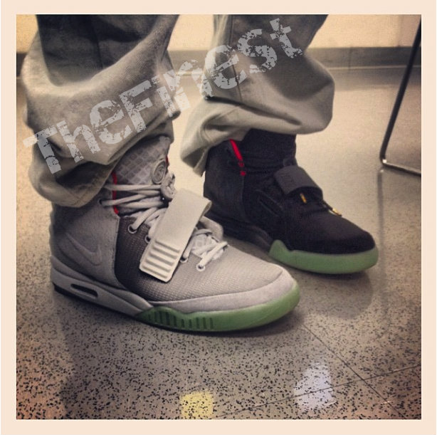 half off 4d28a affcc TheFinest laced up both colorways of the Nike Air Yeezy II.