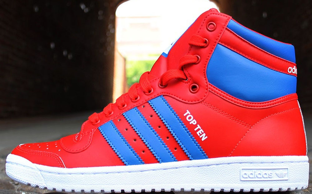 adidas Originals Top Ten Hi Collegiate Red/Royal-Running White