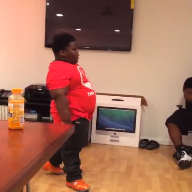 TerRio wearing Nike LeBron 11 Forging Iron