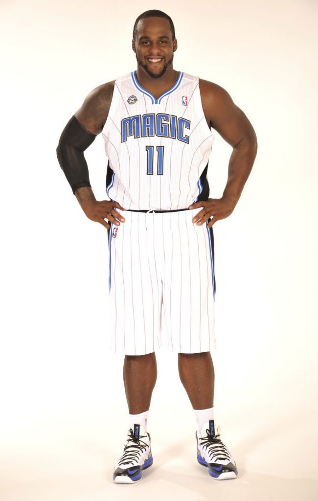 Glen Davis wearing Nike LeBron X PS Elite
