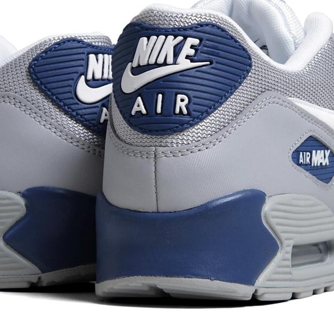 Nike Air Max 90 Essential Wolf GreyDark Royal Blue | Sole