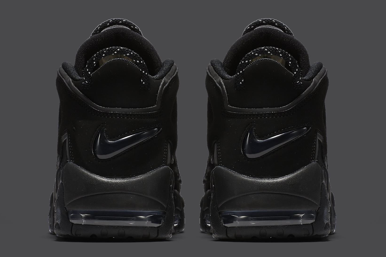 Nike Air More Uptempo Black Reflective 414962-004 Heel
