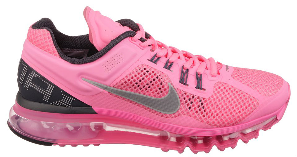 Nike Womens WMNS Air Max 2013 Pink Grey (2)