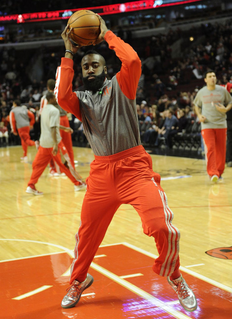 James Harden wearing Nike Lunar Hypergamer Christmas PE (2)