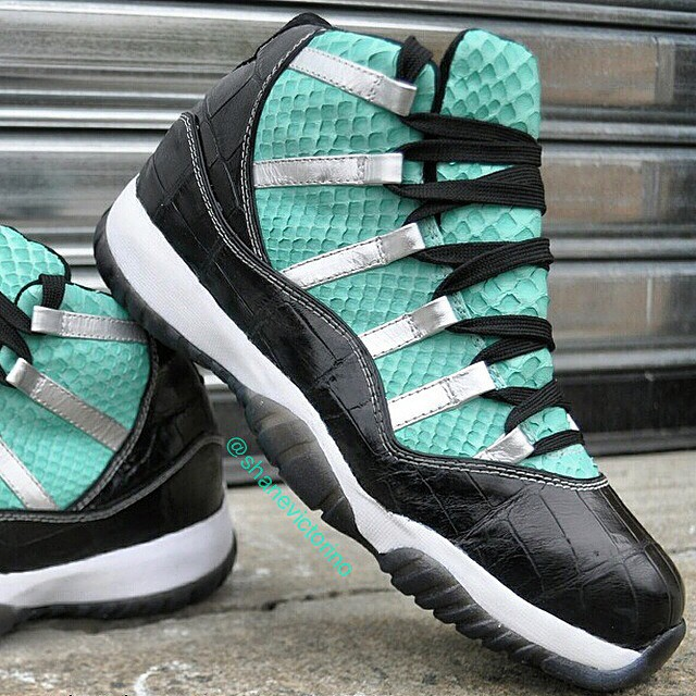 Shane Victorino Picks Up Air Jordan XI 11 Tiffany by Relevant Customs