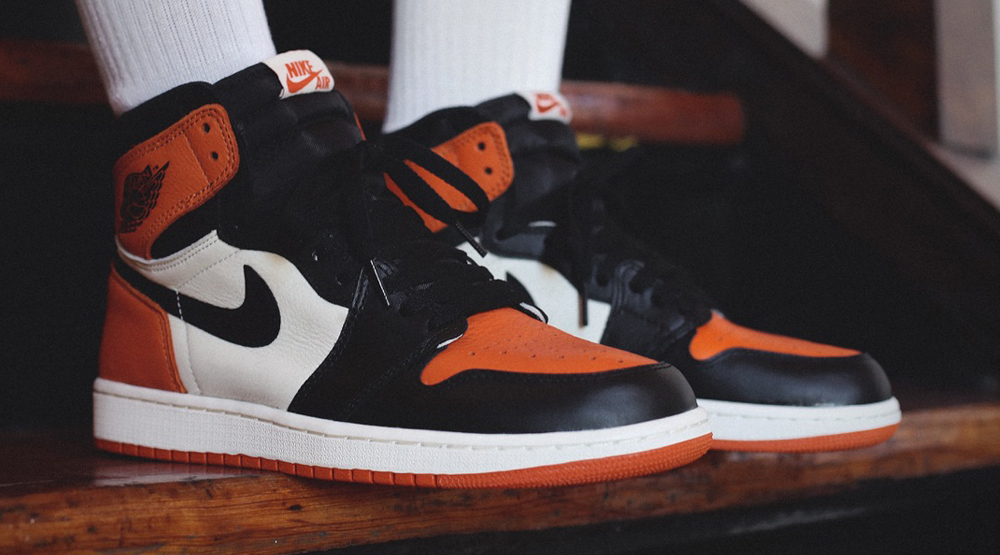 buy popular 1d3bb fa36f See How the 'Shattered Backboard' Air Jordan 1s Look On-feet ...